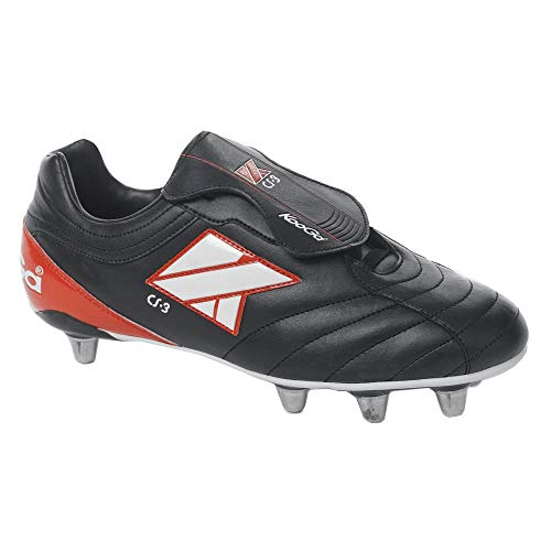Kooga CS-3 Low Cut Soft Toe Rugby Boots [Black] - UK 7.5