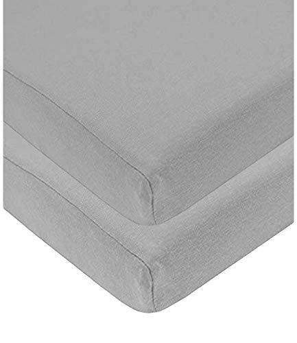 Sasma Home - 2 sábanas bajeras para Cuna 100% algodón Muy Suave (70 x 140 cm) (Gris)