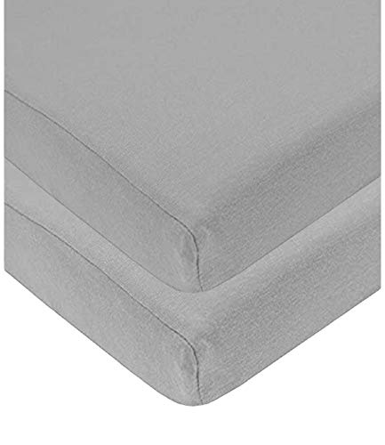 Sasma Home - 2 x Cot Bed Fitted Sheets 100% Cotton Very Soft (70 x 140 cm)