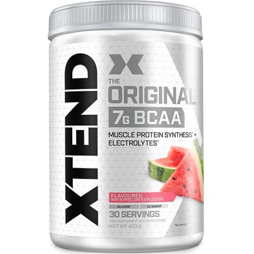 XTEND Original - Suplemento de BCAA en polvo - Sandía | Aminoácidos de cadena ramificada | 7g de BCAA con electrolitos para una mayor hidratación y recuperación | 30 raciones