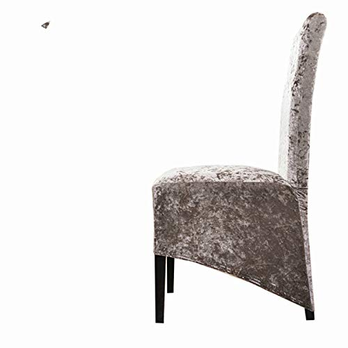 BECCYYLY Esszimmerstuhlbezüge 4Pcs Shiny XL Size Spandex Stuhlbezug Elastic Sofabezug Elastic Seat Stuhlbezug Dining Room Stuhlbezug