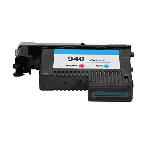 Sharainn Cartucho de Tinta, Cabezal de impresión Cartucho de Tinta de Impresora de impresión de computadora para HP940 C4900A C4901A para 8000 8500 Series(Magenta/Cian)