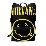 Kurt Cobain Cómoda mochila multifunción Bapack Bolsa de viaje LaptopBapack para Unisex Blanco
