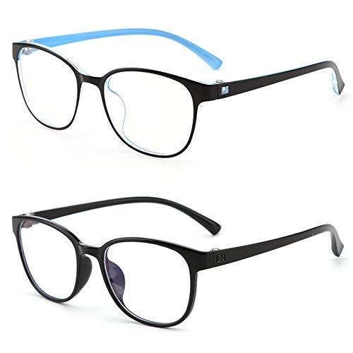 Aroncent 2PCS Kinder Blaulichtbrille Anti Blaulicht Brille Kinderbrille Blaulichtfilter Gläser Brillengestell Jungen Mädchen 8-18 Jahre