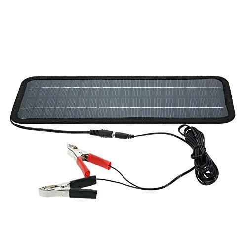 HYCy Cargador de batería de Barco Universal de Coche de energía de Panel Solar portátil de 12 V y 4,5 W, al Aire Libre para Coche, automóvil, Barco, batería de energía Recargable