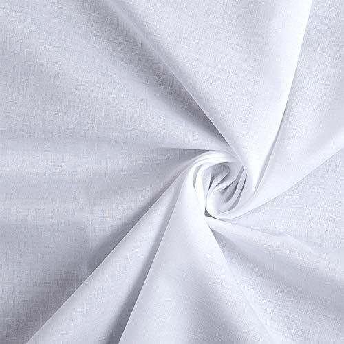 Barcelonetta   Cotton Lawn Fabric   100% Cotton   58 Inch Wide   Lining, Sewing, Air Feel Skirt Layer   Cloth, Solid (White, 5 Yard)