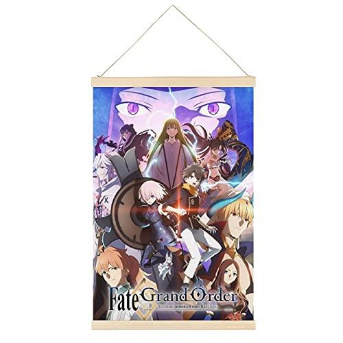 BNYF FateGrand Orden Absolute Demonic Front - Póster colgante de babilonia con diseño de anime Art percha marco para colgar carteles de pergamino en lienzo decorativo para pared de 61 x 91 cm