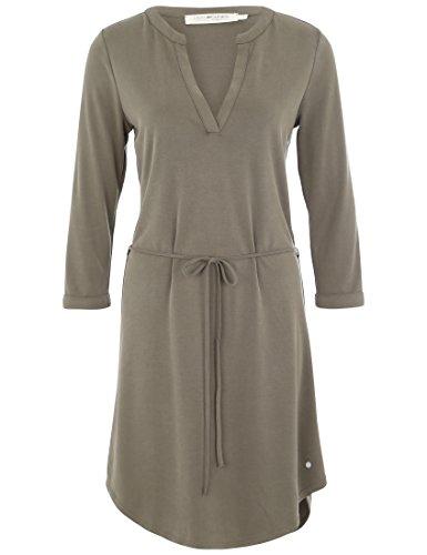 Deik&Dunes Hanna - Cupro Kleid in armeegrün, Größe S