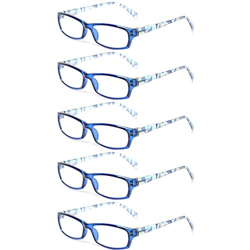 Kerecsen 5 Pairs Fashion Ladies Reading Glasses