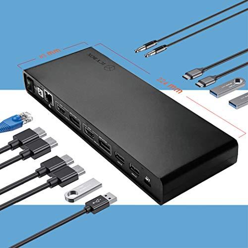 ICY BOX USB C Docking Station (für 2 Monitore) - 6