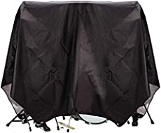 """Drum Set Cover(80\\""""x 108\\""""), PVC Coating Drum Cover, Drum Accessories, Electric Drum Kit Cover with Sewn-in Weighted Corners, Drum Sets Accessories"""