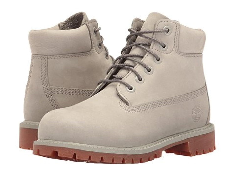 (ティンバーランド)Timberland キッズブーツ?靴 6inches Premium Waterproof Boot (Little Kid) Flint Grey Waterbuck 2 Little Kid 20.5cm M [並行輸入品]