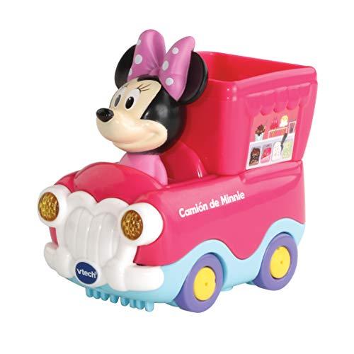 VTech - TutTutBólidos Disney, Camión de Minnie, vehículo Interactivo con música, Voz y Efectos Luminosos, Sus Ruedas giratorias con Sensor activan Frases, melodías y Canciones (80-512122)