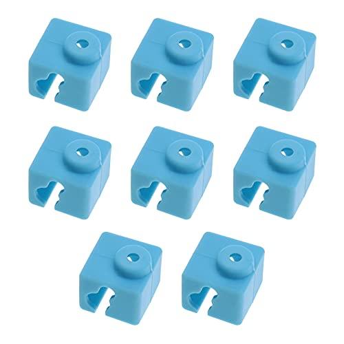 Calza in silicone per stampante 3D Hotend per E3D-V5/Anycubic Kossel/Mega I3/I3-X/I3-S/4Max PRO Blocco in alluminio blu