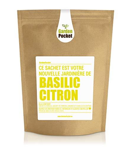 Garden Pocket - Kit de culture d'herbes aromatiques BASILIC CITRON - Sac de pot de fleur