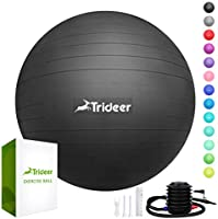Trideer Exercise Ball (45-85cm) Extra Thick Yoga Ball Chair, Anti-Burst Heavy Duty Stability Ball Supports 2200lbs,...