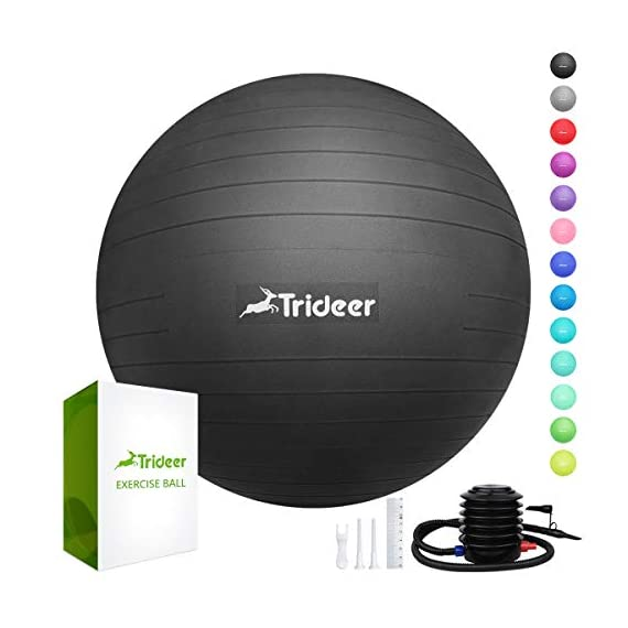 Trideer-Exercise-Ball-45-85cm-Extra-Thick-Yoga-Ball-Chair-Anti-Burst-Heavy-Duty-Stability-Ball-Supports-2200lbs-Birthing-Ball-with-Quick-Pump-Office-Home-Gym