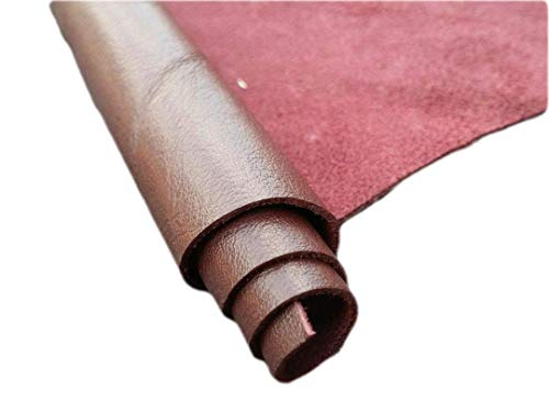 REED Leather HIDES - Cow Skins Various Colors & Sizes (12 X 24 Inches 2 Square Foot, Burgundy)