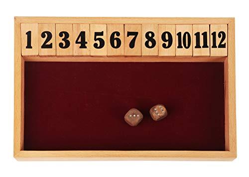 Storeindya legno Chiudi la scatola 12 dadi gioco da tavolo Classiche versioni da tavolo del popolare gioco pub inglese viene fornito con 2 dadi regalo