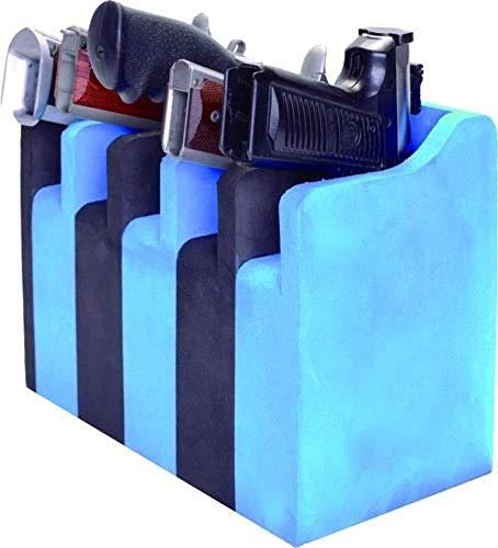 G5 Outdoors 5 Pistol Soft Cradle Holder -Black/Blue, multi, One Size (GPS-F500CRN)