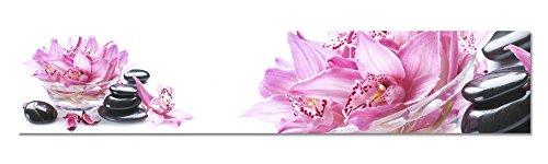 Küchenrückwand Folie selbstklebend Spritzschutz Fliesenspiegel Deko Küchenzeile Rosa | mehrere Größen