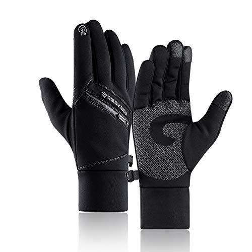 Azarxis Running Handschoenen Touch Screen Handschoen Winter Warm Thermische Winddichte Fietshandschoenen voor Rijden Motorfiets Riding Outdoor Sport