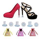 15 Pares Protectores Tacones Transparentes Protector de Tacón Alto Salvatacones Para Hierba Tablones Guijarros Rejillas, 3 Tamaños Protectores Zapatos de Mujer Para Razas Bodas Ocasiones Formales