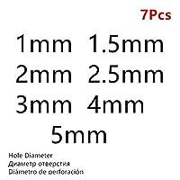 パンチングレザーパンチラウンドスチールレザークラフト中空パンチ1ミリメートル、25ミリメートルメタルガスケットプラスチックゴムツール (色 : Black 1mm 5mm 7Pcs)