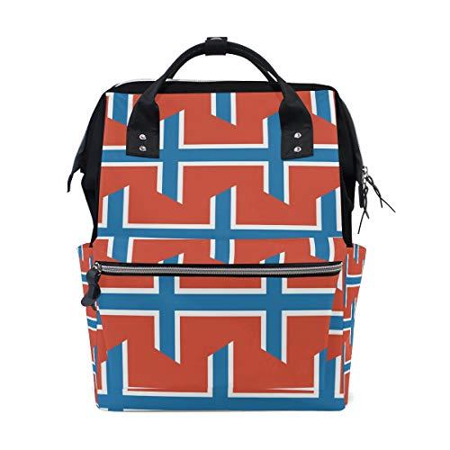 Svalbard and Jan Mayen Islands Flag Mama Tasche Mutter Tasche Reise Rucksack Wickeltasche Daypack Windeltaschen für Babypflege Große Kapazität