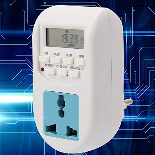 Temporizador de enchufe de pantalla digital de 220 V con ahorro de energía de alta confiabilidad Salida de temporizador programable semanal de 7 días de alta precisión para luces