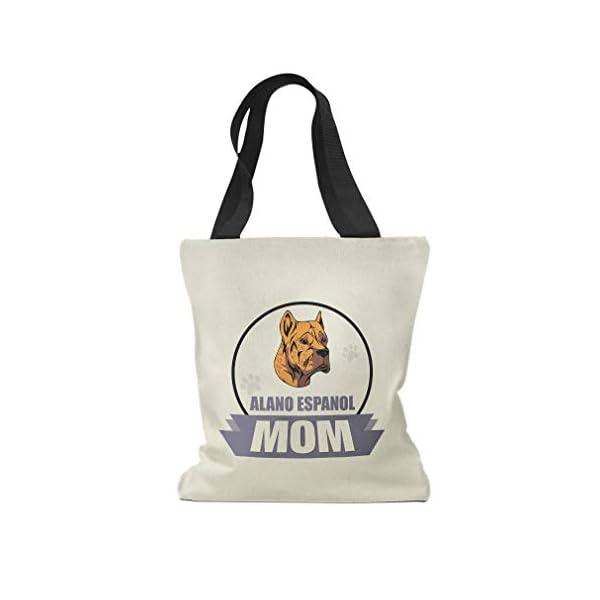 Custom Canvas Tote Shopping Bag Mom Alano Espanol Dog Mom Alano Espanol Dog Reusable Beach for Women 1