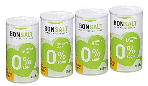 Bonsalt Sal 0% Sodio - Paquete de 4 x 85 gr - Total: 340 gr