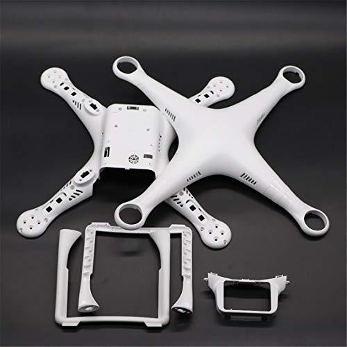 Pgige Drone Body Shell Frame Case Cover con Tren de Aterrizaje Phantom 3 Pro/Ad/S (Blanco)