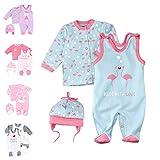 Baby Sweets 3er Baby-Set mit Strampler, Langarm-Shirt & Mütze für Mädchen in Rosa Türkis/Baby-Erstausstattung Strampler-Set im Flamingo-Motiv für Neugeborene & Kleinkinder in Größe: 3-6 Monate (68)