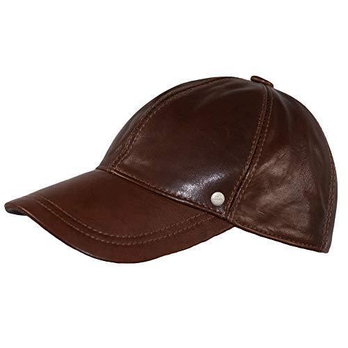 Dazoriginal Berretto da Baseball Pelle Cappellino Uomo Visiera Cappello Marrone