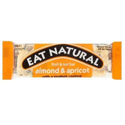 Eat Natural Energy Bar con Almendra y Albaricoque con Revestimiento de Yogur, 12x50g