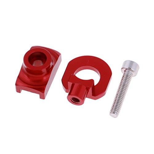 Homyl Tendeur de Chaine de Velo Pliable Bicyclette Outil de Réglage en Alliage d'Aluminium - Rouge, comme Décrit