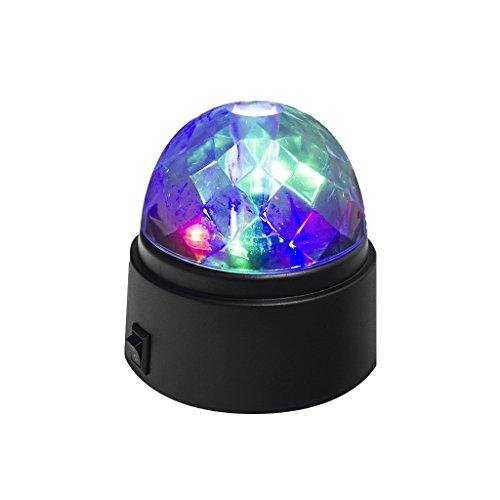 balvi Partylicht Disco Farbe schwarz Dreht Sich Batterien: 3xAA (Nicht inbegriffen) ABS-Kunststoff