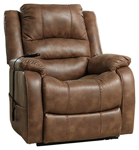 Signature Design by Ashley Yandel Power Lift Oversized Recliner Saddle