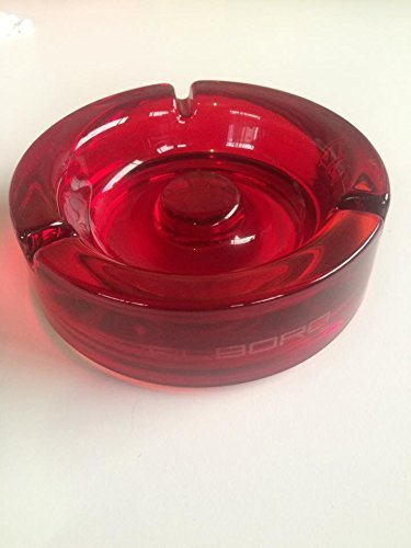 Marlboro Glas Design Aschenbecher Rot 13,5 cm