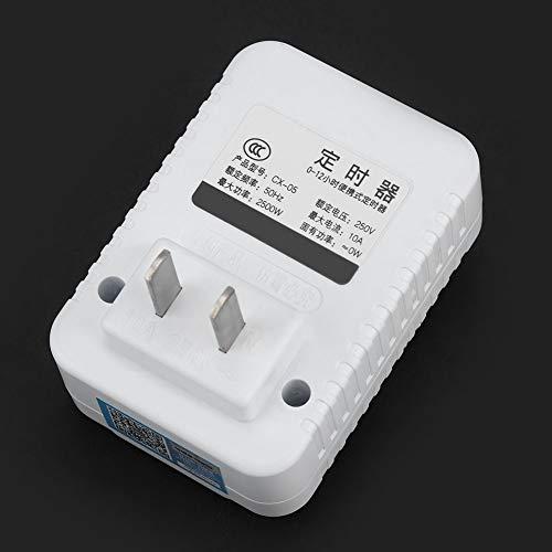 Zhat Interruptor de Enchufe de Pared Enchufe de Temporizador eléctrico Interruptor de Temporizador Enchufe de Temporizador para dispensador de Agua Calentadores de Agua