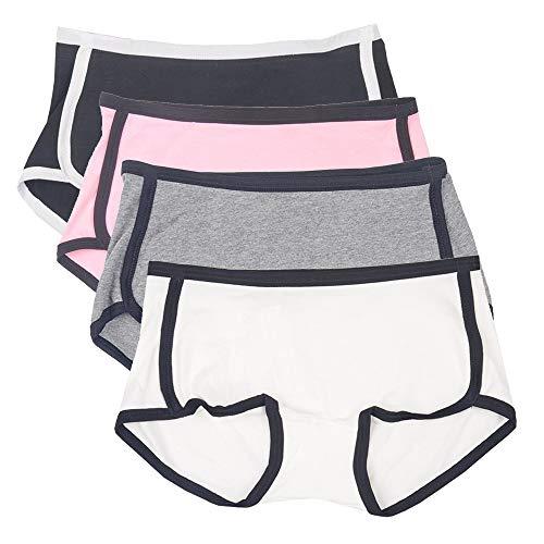 CozyBella Mädchen Baumwolle Boxershorts Unterhosen Slip Unterhose Hotpants Unterwäsche 4er-Pack