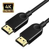4K HDMIオス-オスケーブル 超高速HDMIコード 金メッキコネクター 4K@60Hz HDR ビデオ 4K 2160p 3D HDCP 2.2 ARC対応 イーサネット X-Box PS4/3 4K Fire Netflix LG サムスンなどに対応 (6.6 フィート)