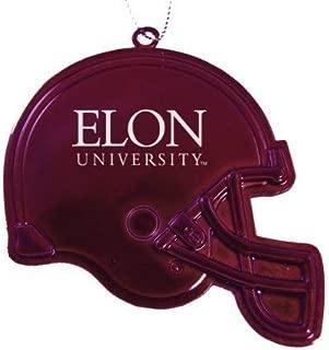 LXG, Inc. Elon University - Chirstmas Holiday Football Helmet Ornament - Burgundy