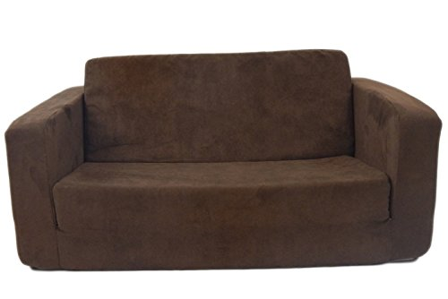 Fun Furnishings Toddler Flip Sofa, Brown