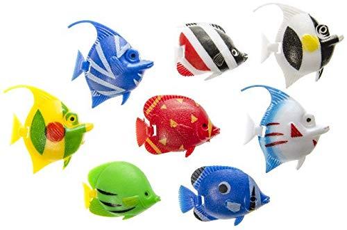 Schnooridoo 10 Floating Mini Fische Robo Fisch Aquarium Teich Deko