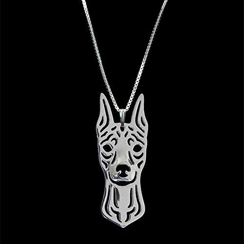 NC190 Collares Pendientes del Perro del Animal doméstico de Las Mujeres de la aleación de la Moda en