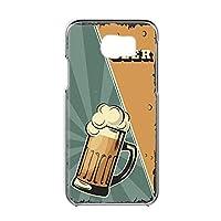 Galaxy S6 (SC-05G) 用 スマホケース ハードケース [BEER ビール・グリーン] ビンテージ アメリカン レトロ USA SAMSUNG サムスン ギャラクシー エスシックス docomo スマホカバー 携帯ケース 携帯カバー [FFANY] beer_00l_h191@03