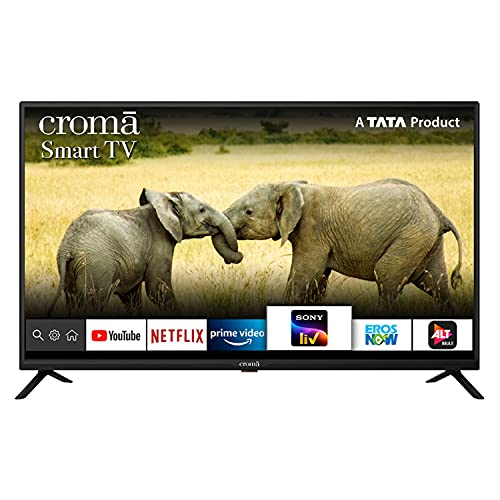 Croma 109 cm (43 Inches) Full HD Smart Certified Android LED TV CREL7371 (Black) (2021 Model)