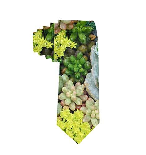 Uomo 'S Moda Classico Poliestere Tessuto Miniatura Piante grasse Cravatta Cravatta Formale Casual Festa di matrimonio Abito da lavoro Cravatta